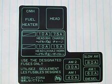 1984 1985 1986 1987 1988 toyota pickup new fuse box label