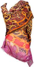 Pashmina Schal Kaschmir, Modal lila braun Cashmere scarf écharpe Foulard brown