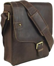 UNICORN Real Leather iPad,Tablets & Accessories Messenger Bag Brown Khaki #8G