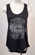 Project Social T Women's Tunic Tank Top Mandala Charcoal Size S NEW Nordstrom