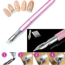 Gel Design Painting Pen Nail Art Brush Set For Salon Manicure DIY Tool Kit 5Nibs