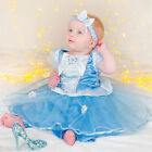 *GIRLS BABY TODDLER DISNEY PRINCESS CINDERELLA PANTO FANCY DRESS COSTUME OUTFIT*