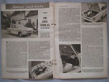 1961 Ford Consul Classic 315 Original Road test