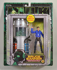 """2003 Bruce Banner Light-Up Gamma Chamber 4"""" Movie Action Figure Incredible Hulk"""