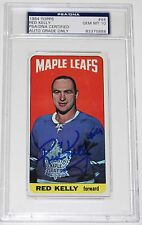 RED KELLY SIGNED 1964 TOPPS HOCKEY CARD #44 PSA/DNA AUTHENTICATED MAPLE LEAFS