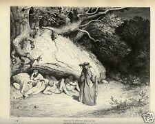 Stampa Antica = 1892= DANTE INFERNO= IL LIMBO = di Gustave DORE' = Old Print
