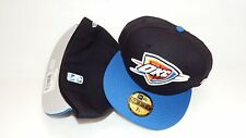 NWT NEW ERA HAT CAP FITTED 59FIFTY OKLAHOMA CITY SIZE 7 1/4 BLACK BLUE NBA