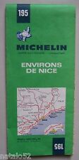 carte MICHELIN 195 environs NICE - 1970