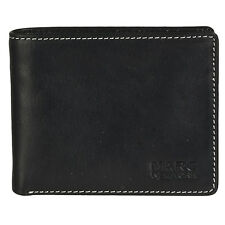 MARC NEW YORK ANDRW MARC  Men's Stitched Black Leather Wallet N92005/08