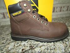 NEW CATERPILLAR CAT STEEL TOE WORK BOOTS MENS 8 STYLE: ELECTRIC BROWN