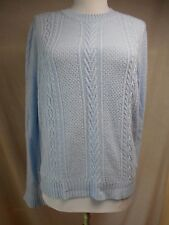 nwot J Crew Tunic Sweater S Flared Cuffs Solid Light Blue Lightweight Cable Knit