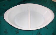 GlasBake Divided Casserole/ Baking / Serving Dish J 2352 Green Spring Blossoms