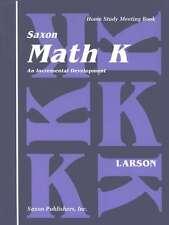 Saxon Math Homeschool K Meeting Book First Edition Kindergarten 9781565770218