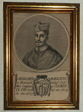 600'-RITRATTO PAPA CLEMENTE VIII-ANSELMUS MARZATUS A MONOPOLI-ITALIA