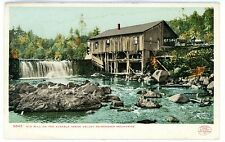 Keene Valley NY - OLD MILL ON THE AUSABLE RIVER - Postcard Detroit Publishing