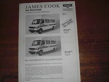 Prospekt Sales Brochure Westfalia Wohnmobil James Cook Mercedes   автомобиль