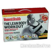 WOMEN'S HEALTH THE LEAN BODY WORKOUT DVD TRAINING SYSTEM KIT WITH BODY BALL NEW!