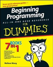 Beginning Programming All-In-One Desk Reference For Dummies by Wallace Wang, (Pa