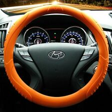 MASADA Premium Silicone Car Steering Wheel Cover (Orange) - One size fits all