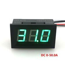 DC50A Green LED Digital Ammeter LED Current Panel Direct Ampermeter Galvanometer
