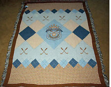 Lord of The Links Golf Tapestry Afghan Throw