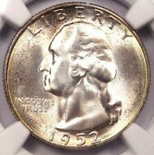1952-S Washington Quarter 25C - Certified Ngc Ms67 - Rare in Ms67 - $200 Value