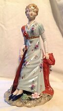 Beautiful Porcelain Lady with Cither Figurine