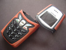 new nokia 5210 cover housing keypad set orange