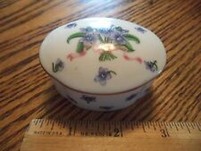 LENOX COLLECTORS' SOCIETY MEMBER GIFT SMALL PORCELAIN BOX W/AFRICAN VIOLETS 1992