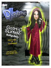 Disguise Teens 'Gothic Slayer' Halloween Costume, Burgundy, 7-9