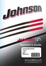 Johnson Outboard Owners Manual Book 2007 9.9, 10 & 15 HP Models R, RL & RT