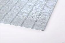 Glas Mosaik Fliesen Muster in Weiß Texturiert Lava Baustein Effekt (MT0118)