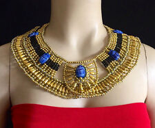 New Ancient Egyptian Queen Cleopatra Beaded Collar Necklace Halloween Costume