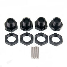 RC Wheel Hex Metal 17mm Mount Hub Nuts & Pin 4p For RC 1:8 Car Part 81011 Black