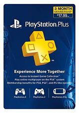 Sony PlayStation PLUS 3 Month Gamecard PSN PS3 PS4 VITA*NEW*