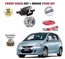 FOR HONDA JAZZ 1.4 i-DSi 2002-2004 NEW FRONT BRAKE DISCS SET + DISC PADS SET