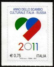 ITALY MNH 2011  Italian Language and Culture in Russia - Self Adhesive