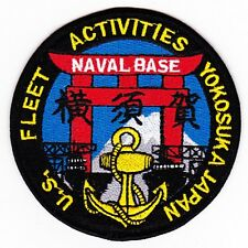 US Fleet Activities Yokosuka Japan Naval Base Military Patch