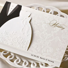 Personalized Laser Cut Printing Wedding Invitation Cards with Envelopes & Seals