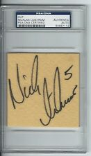 NICKLAS LIDSTROM DETROIT RED WINGS SIGNED CUT AUTOGRAPH PSA/DNA 83687112