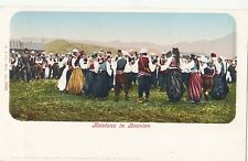 B77853 kolotanz in bosnine folklore cotume dance  bosnia scan front/back image