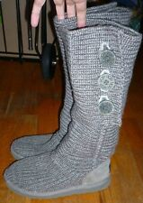 "UGG Classic ""Cardy"" Grey Gray Sweater Boots Size 7"