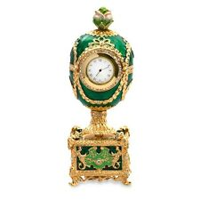 Rose with Clock Fabergé Style Musical Egg Faberge Egg Easter Egg with Clock