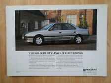 PEUGEOT 405 BODY STYLING KIT orig 1987 UK Mkt Sales Leaflet Brochure