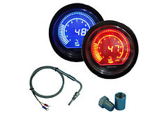 EGT Exhaust Gas Temperaturature Sensors with 2-Color Gauge and Weld Bund Kit