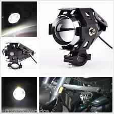 Black CREE U5 LED Motorcycle Chopper Driving Fog Light Spot HeadLight Lens Lamp