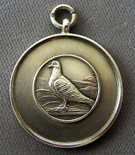 Sterling SilverRacing Pigeon Watch Fob Awards Medal 1954