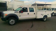 Ford: F550 CREW CAB UTILITY SERVICE TRUCK  DIESEL 4X4-STAKEBEDS AVAIL. IN 2WD