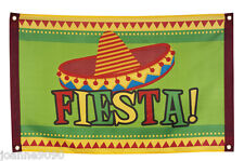 MEXICAN SOMBRERO FIESTA PARTYWARE GARLAND DECORATION PARTY FLAG POSTER BANNER