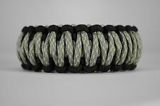 550 Paracord Survival Bracelet King Cobra Black/ACU Camping Tactical Military